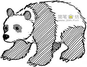 简笔画大熊猫剪影