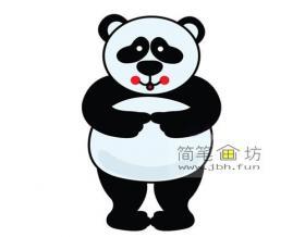 害羞的熊猫简笔画步骤教程