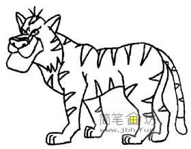 2幅关于老虎的简笔画