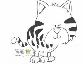 怎么画老虎简笔画步骤教程