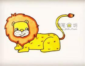 详细的步骤一步步教你画狮子简笔画