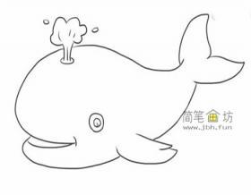 喷水的鲸鱼画法