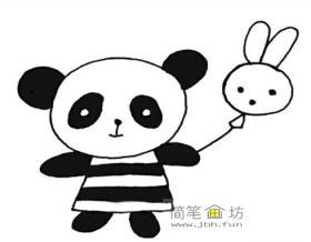 6幅超可爱的熊猫宝宝简笔画图片素材