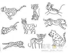 简笔画花豹的画法步骤及图片大全