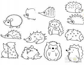 可爱的小刺猬简笔画画法及图片大全
