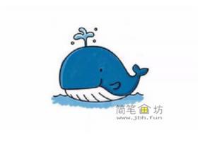 幼儿学画画_简单的鲸鱼简笔画教程