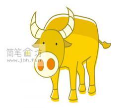 儿童简笔画水牛的画法教程【彩色】