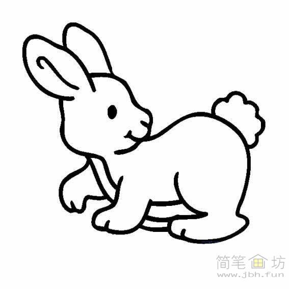 8幅可爱的儿童简笔画兔子图片