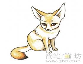 怎么画狐狸简笔画步骤教程【彩色】