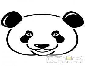 大熊猫简笔画头像图片