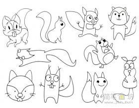 幼儿简笔画小松鼠的画法