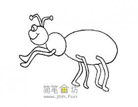 20幅蚂蚁简笔画图片