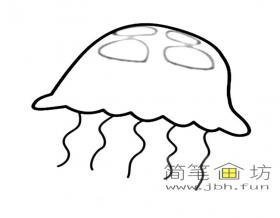 简笔画水母