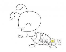 8幅儿童简笔画蚂蚁图片素材