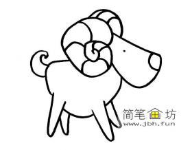 儿童简笔画绵羊图片