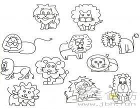 儿童简笔画狮子的画法及图片大全