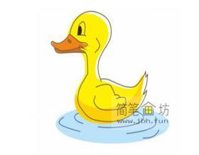 一步一步教你学画儿童简笔画小鸭子【彩色】