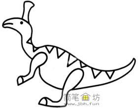 儿童恐龙简笔画:青岛龙的画法图片