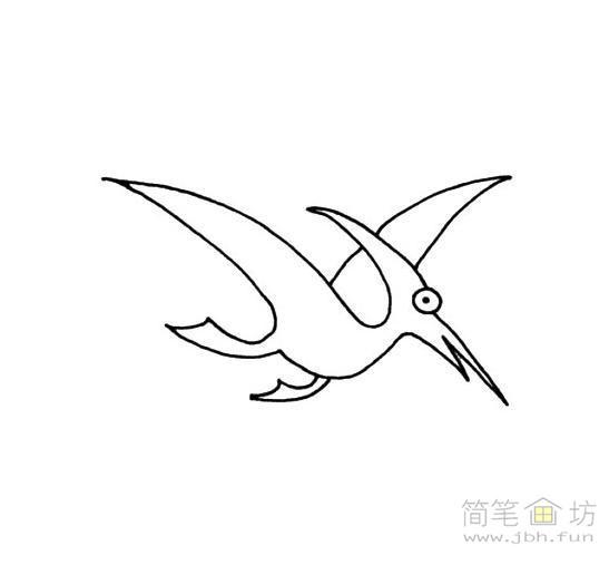 2幅翼龙的简笔画图片素材