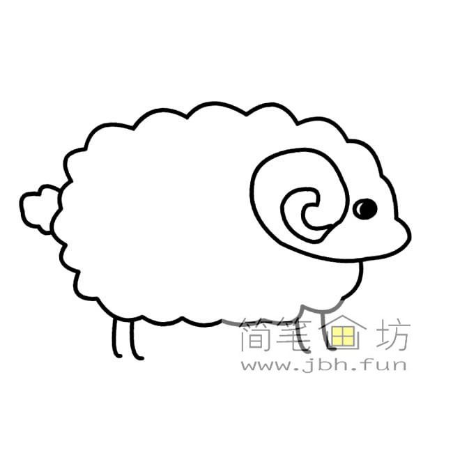 小绵羊简笔画素材图片