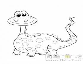 可爱的卡通恐龙简笔画图片