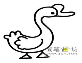 3幅卡通鹅儿童简笔画图片