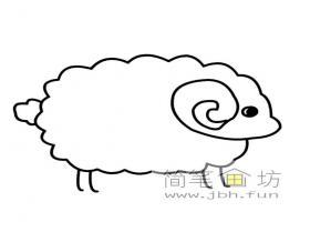 小绵羊简笔画素材