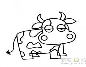 儿童简笔画教程:牛的画法步骤