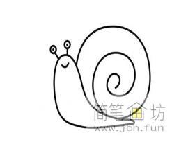 简笔画图片:可爱的蜗牛