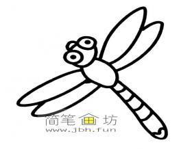蜻蜓简笔画图片大全10幅