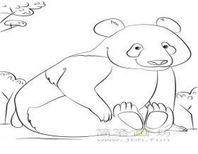 3幅大熊猫简笔画图片素材