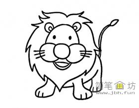 5幅卡通小狮子简笔画图片素材