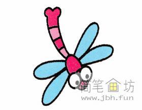 蜻蜓的简笔画分解步骤