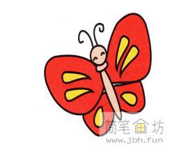 翩翩起舞的蝴蝶的简笔画教程