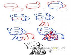 一步一步教你学画斑马简笔画