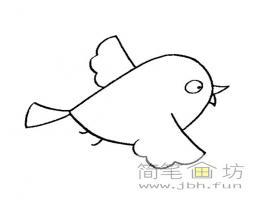 6幅可爱的小鸟卡通简笔画图片