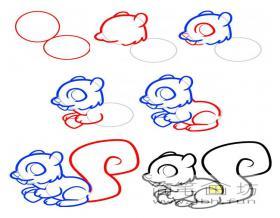 松鼠的简笔画步骤教程