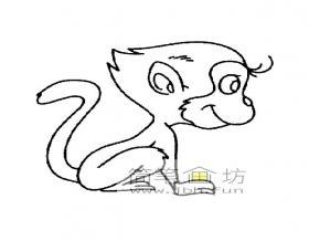 猴子简笔画图片大全【20幅】