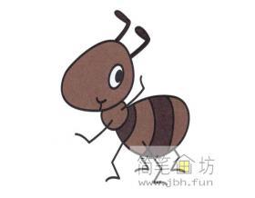 蚂蚁简笔画分解步骤教程