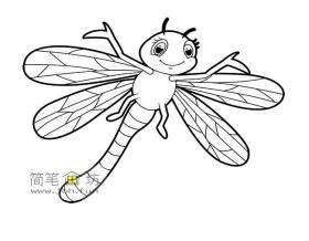 蜻蜓简笔画图片素材