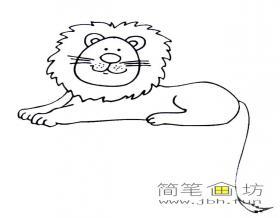 狮子简笔画图片欣赏