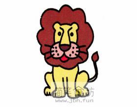 一步步教你画狮子简笔画