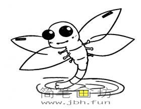 蜻蜓点水的图片