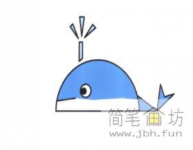 鲸鱼的简笔画教程详解