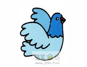 简笔画:鸽子的图解教程