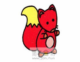 跑起来的狐狸宝宝的绘画步骤