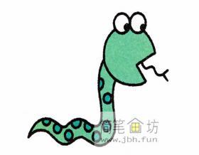 儿童简笔画蛇的步骤解析