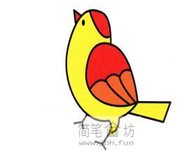 彩色麻雀的简笔画教程详细解析