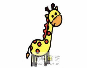 儿童简笔画长颈鹿的画法