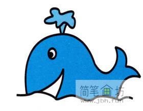 可爱的小鲸鱼的绘画步骤
